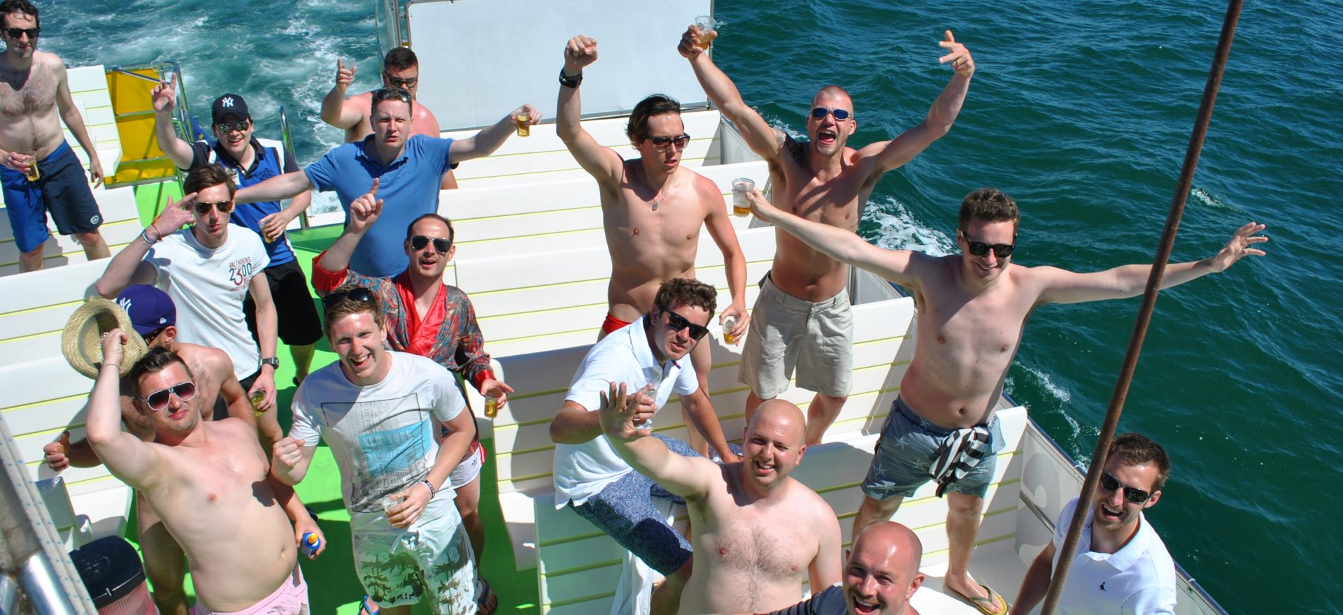 albufeira stag do booze cruise