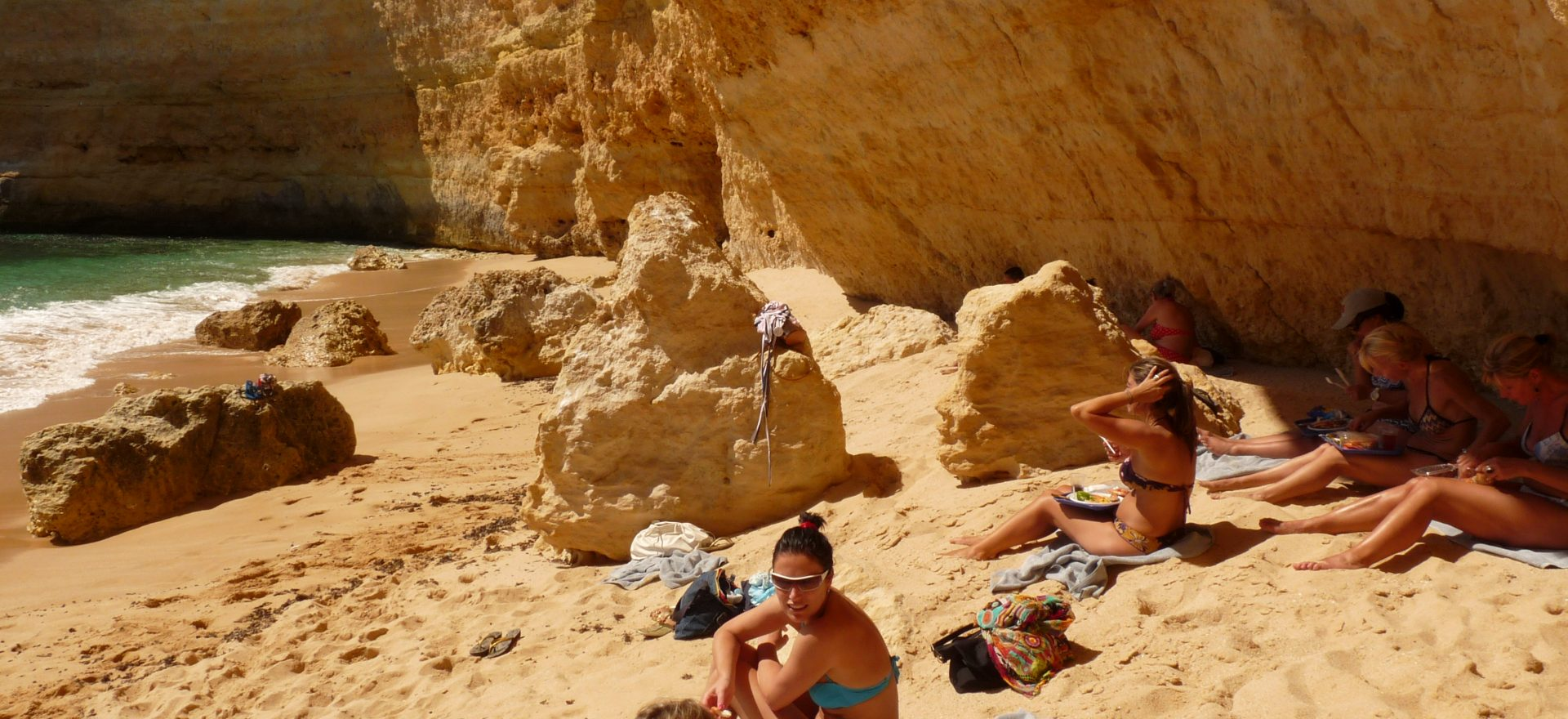 algarve hen do boat trip caves beach lunch