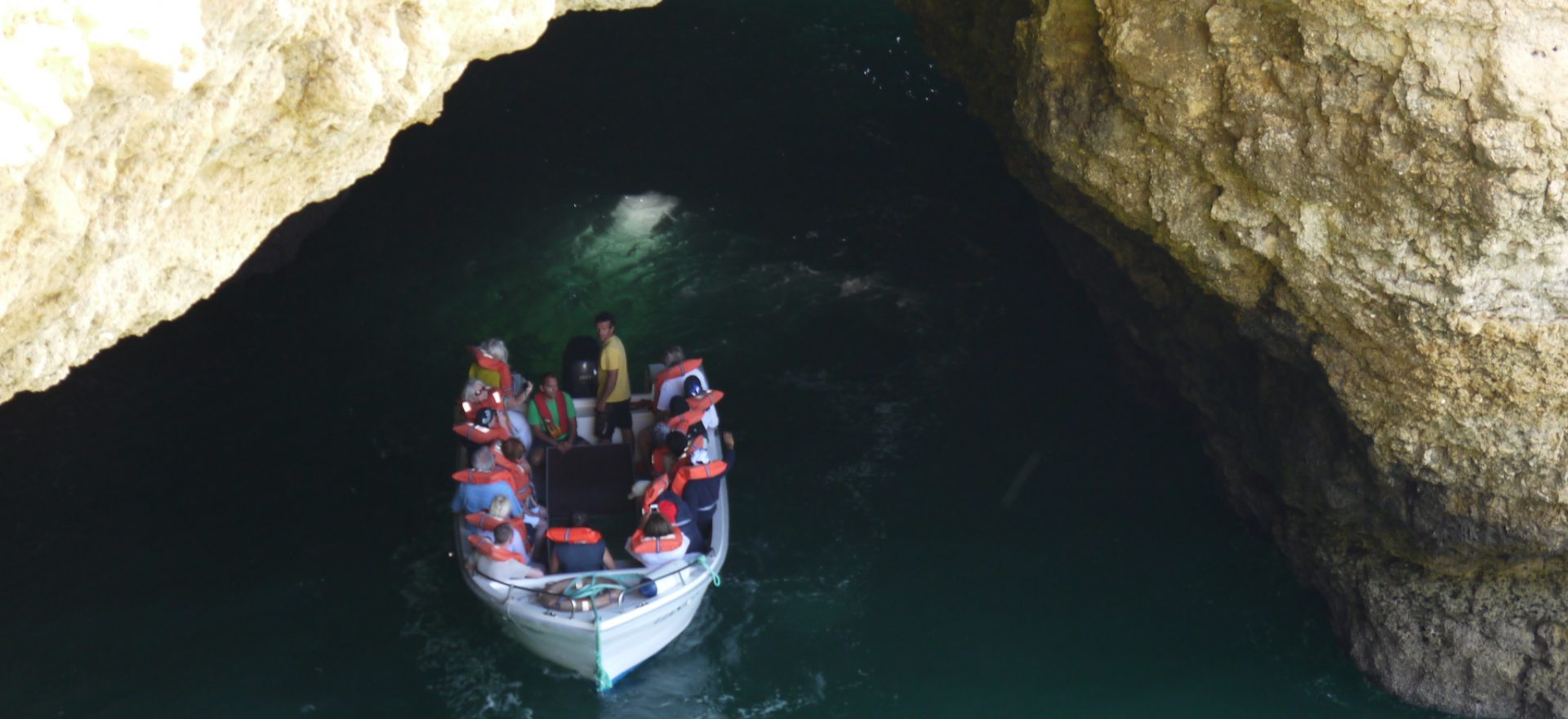 glass bottom boats trips to visit the vilamoura caves